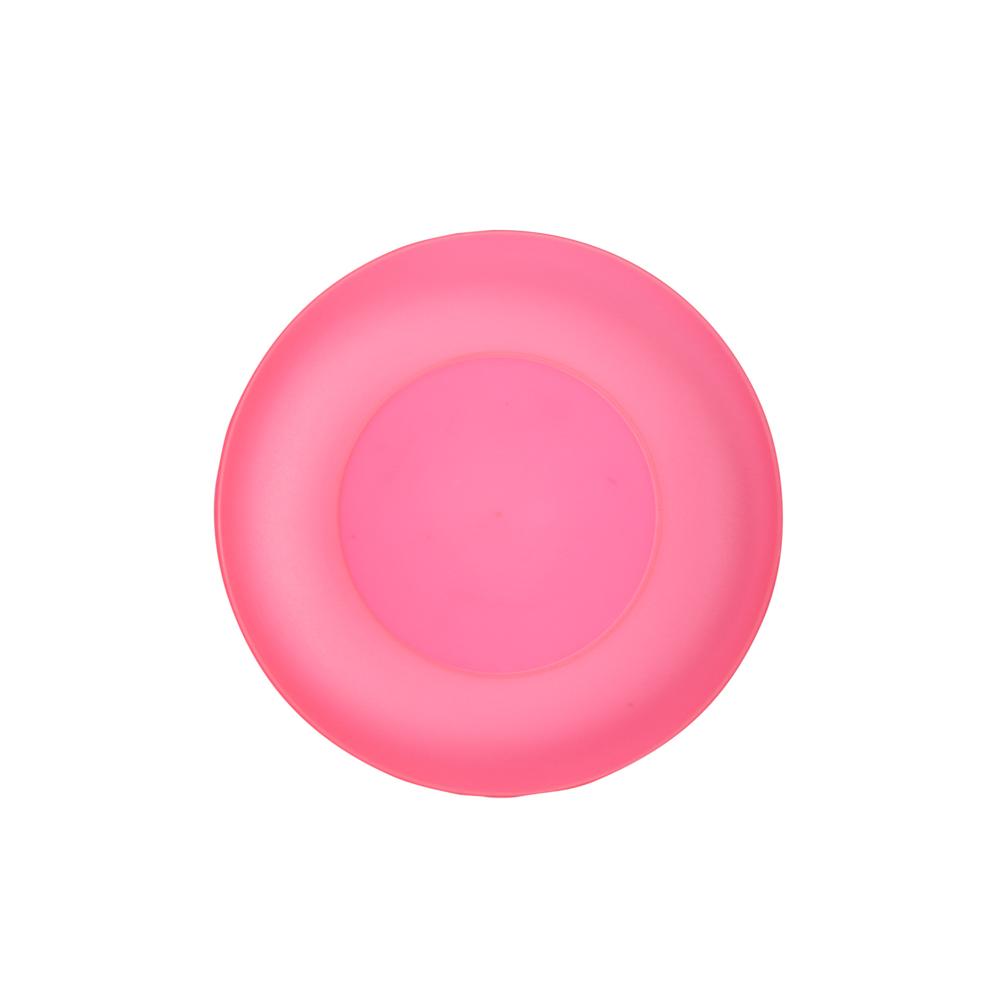 Talerz plastikowy Sagad 22 cm różowy