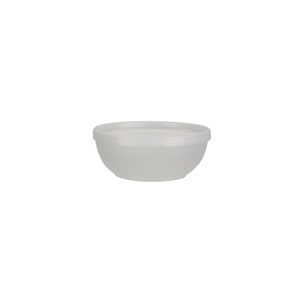 Miseczka z pokrywką z tworzywa sztucznego Sagad Weekend 0,3 l / 12 cm biała