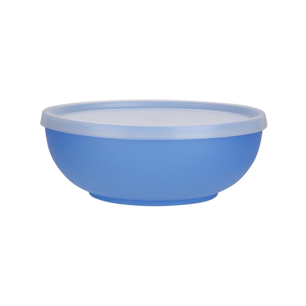 Miseczka z pokrywką z tworzywa sztucznego Sagad Weekend 0,85 l / 17 cm niebieska
