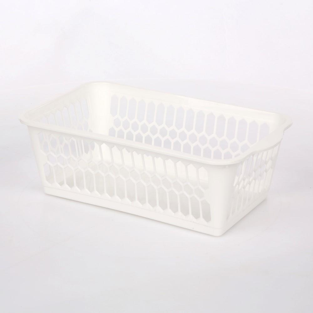 Kosz / koszyk prostokątny mały biały 25X14,5X8 cm
