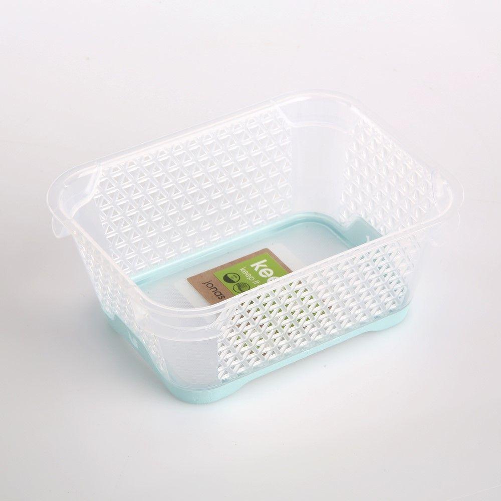 Koszyk / pojemnik do przechowywania plastikowy Jonas seledynowy antypoślizgowy 16x12 cm
