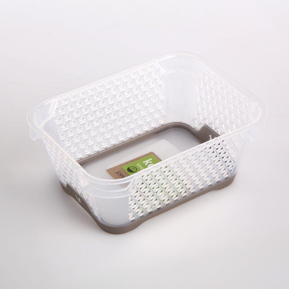 Koszyk / pojemnik do przechowywania plastikowy Jonas szarobrązowy antypoślizgowy 16x12 cm