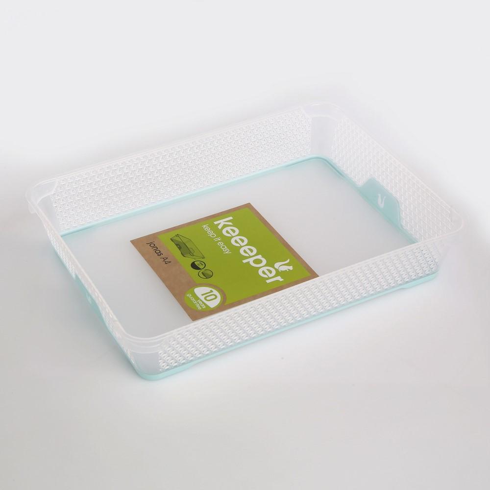 Koszyk antypoślizgowy plastikowy Keeeper Jonas Seledynowy A4