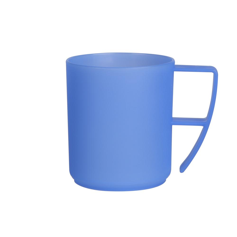 Duży kubek plastikowy z uchem Sagad Weekend 420 ml niebieski