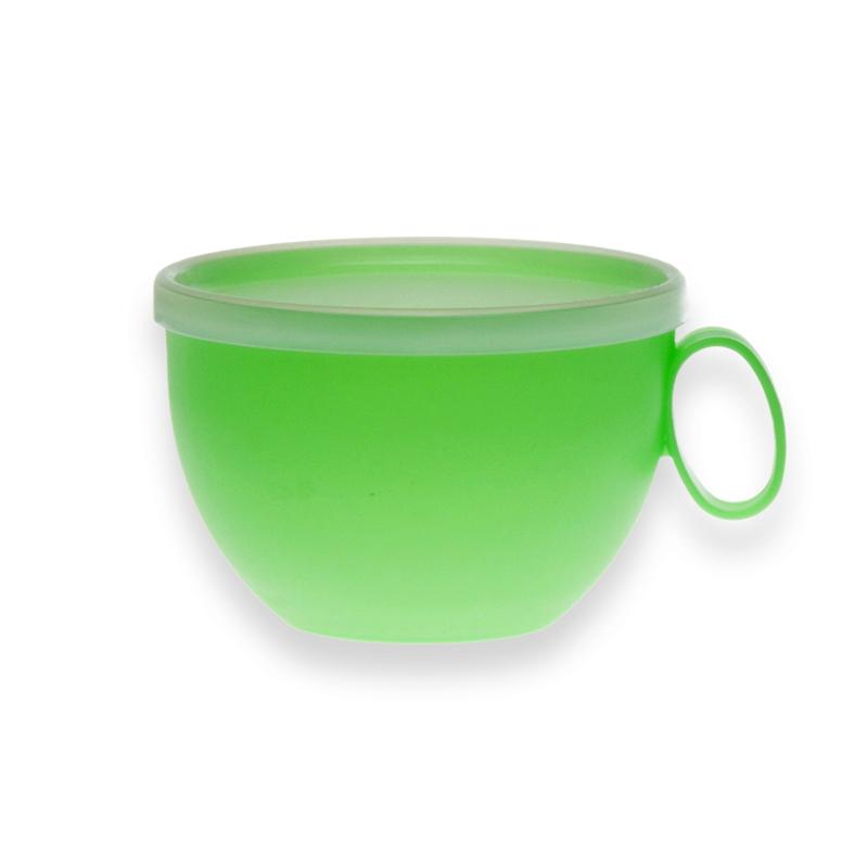 Kubek XXL z pokrywką z tworzywa sztucznego Sagad Weekend 0,55 zielony