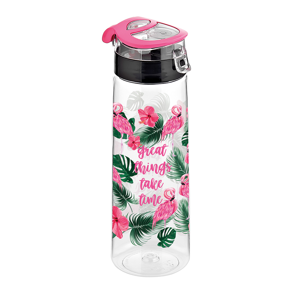 730 CC TRITAN DECORATED WATER BOTTLE WITH PLASTIC LID