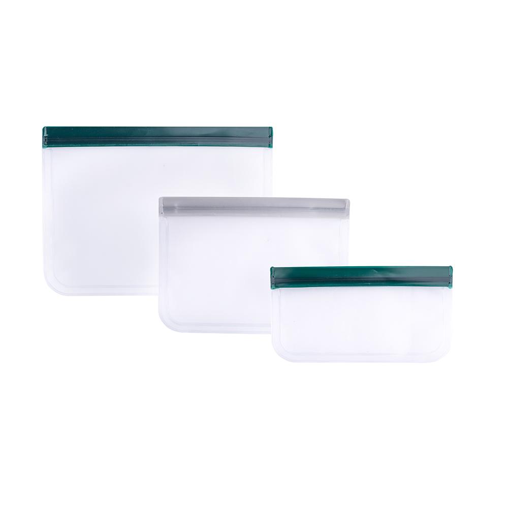 Torebki do przechowywania wielokrotnego użytku komplet 3 szt. 21,5x12 cm; 23x17 cm; 26x20 cm/Bądź Eko