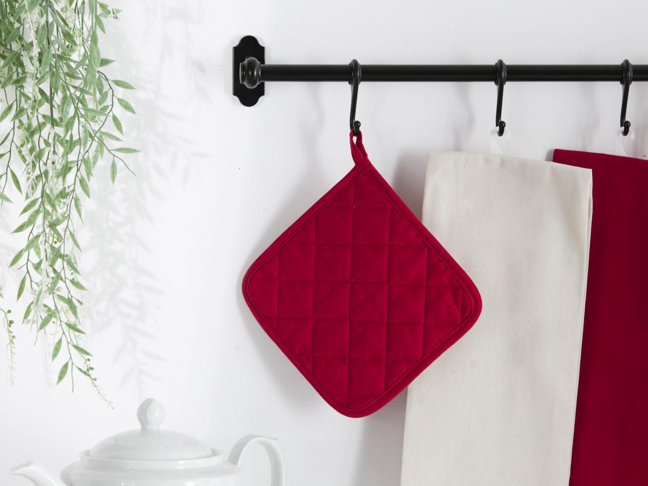 Łapka kuchenna 100% bawełna Altom Design kolekcja Monokolor czerwona