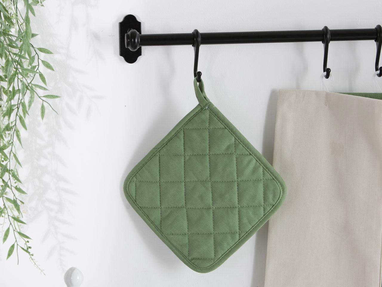 Łapka kuchenna 100% bawełna Altom Design kolekcja Monokolor zielona