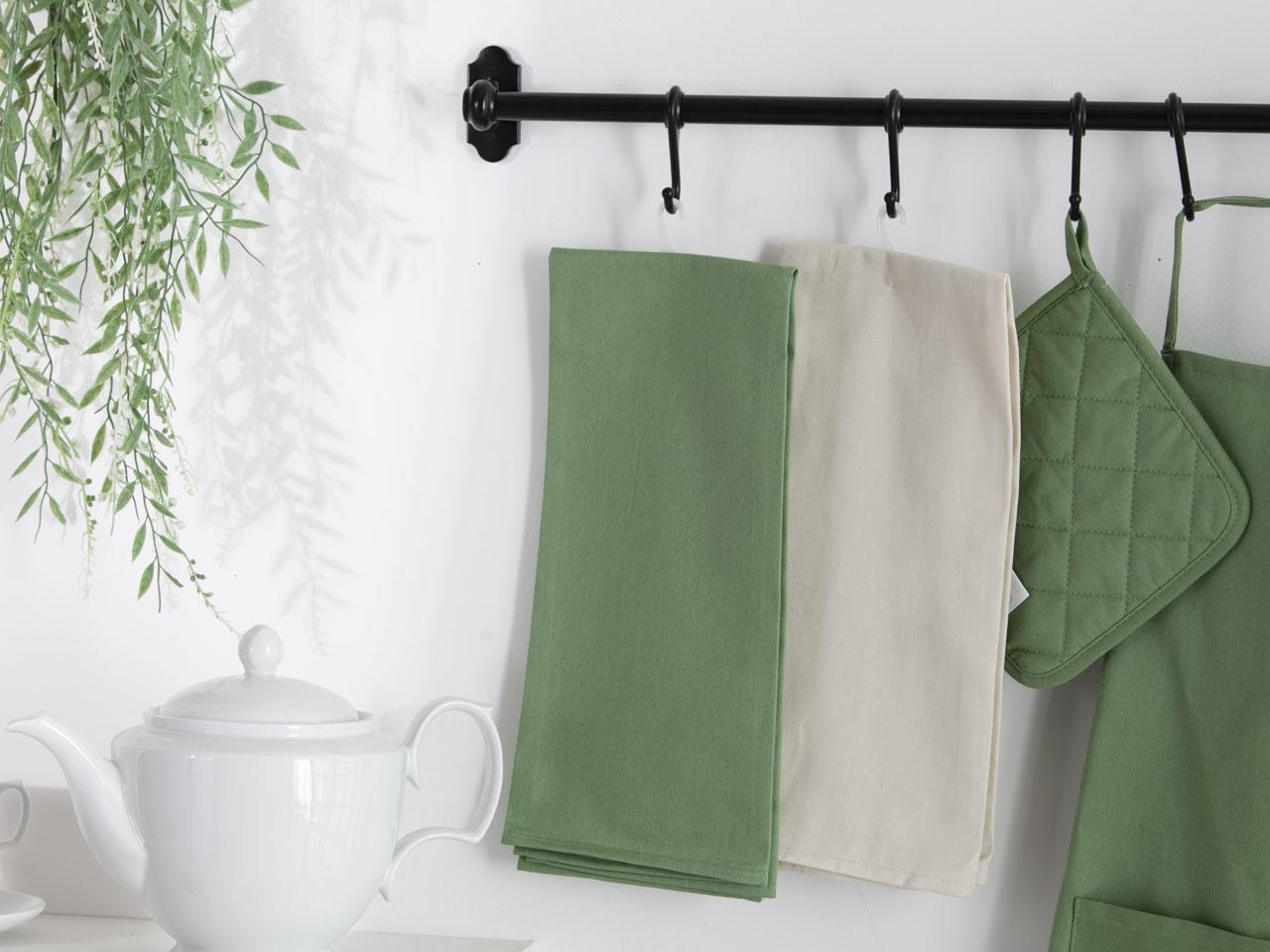 Ręcznik / Ściereczka kuchenna 100% bawełna Altom Design kolekcja Monokolor zielona