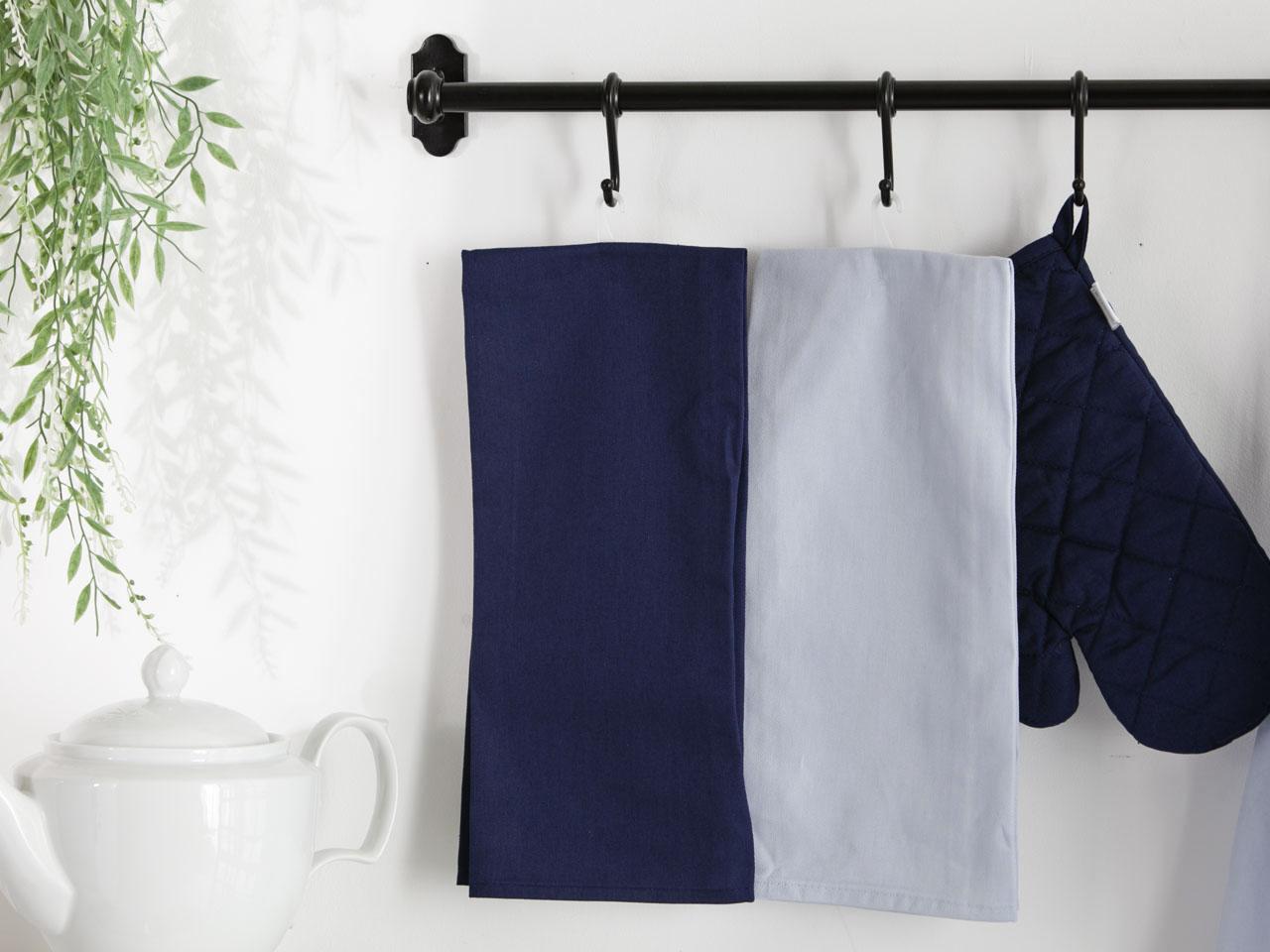 Ręcznik / Ściereczka kuchenna 100% bawełna Altom Design kolekcja Monokolor granatowa