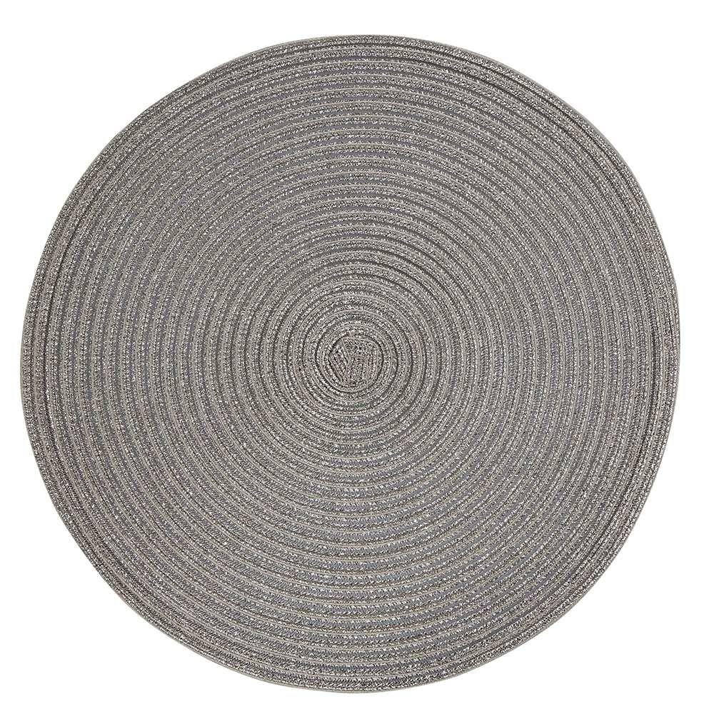 Mata stołowa słomkowa Altom Design srebrna