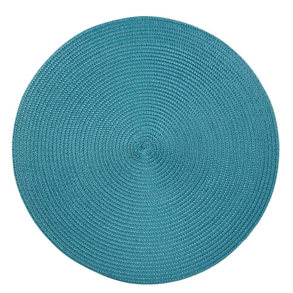 Podkładka / Mata na stół słomkowa Altom Design Turkusowa 38 cm