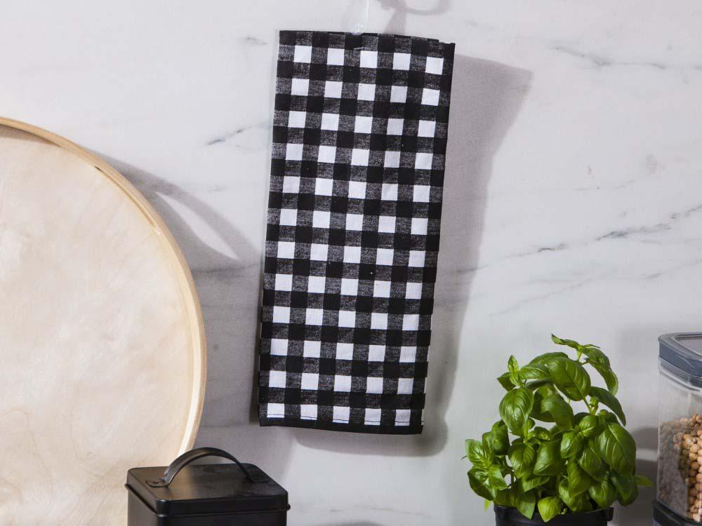 Ręcznik kuchenny bawełniany Altom Design Miłość w Kratkę 45x70 cm