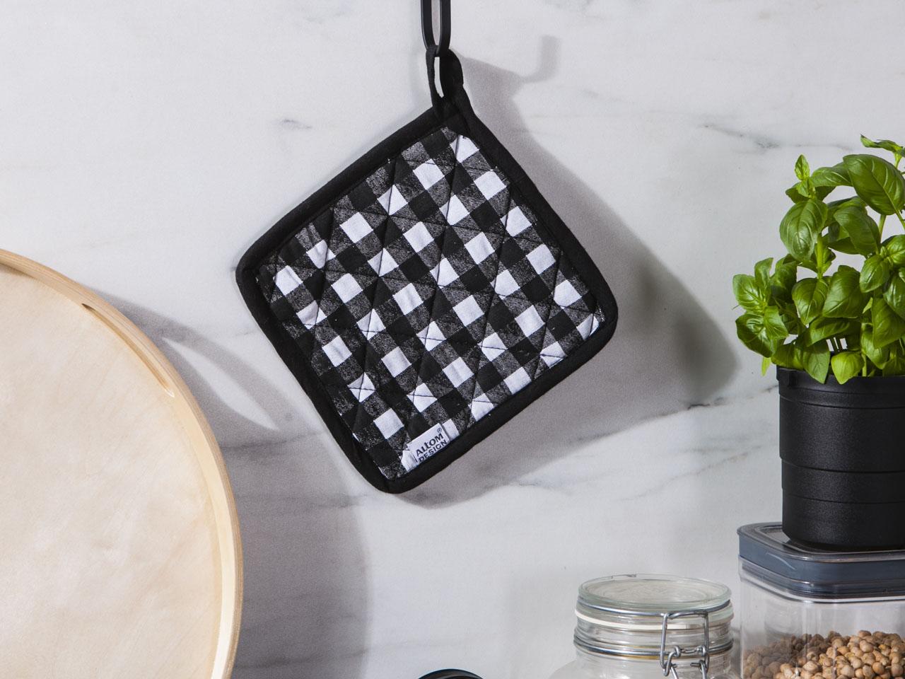 Łapka kuchenna bawełniana Altom Design Miłość w Kratkę 18 cm