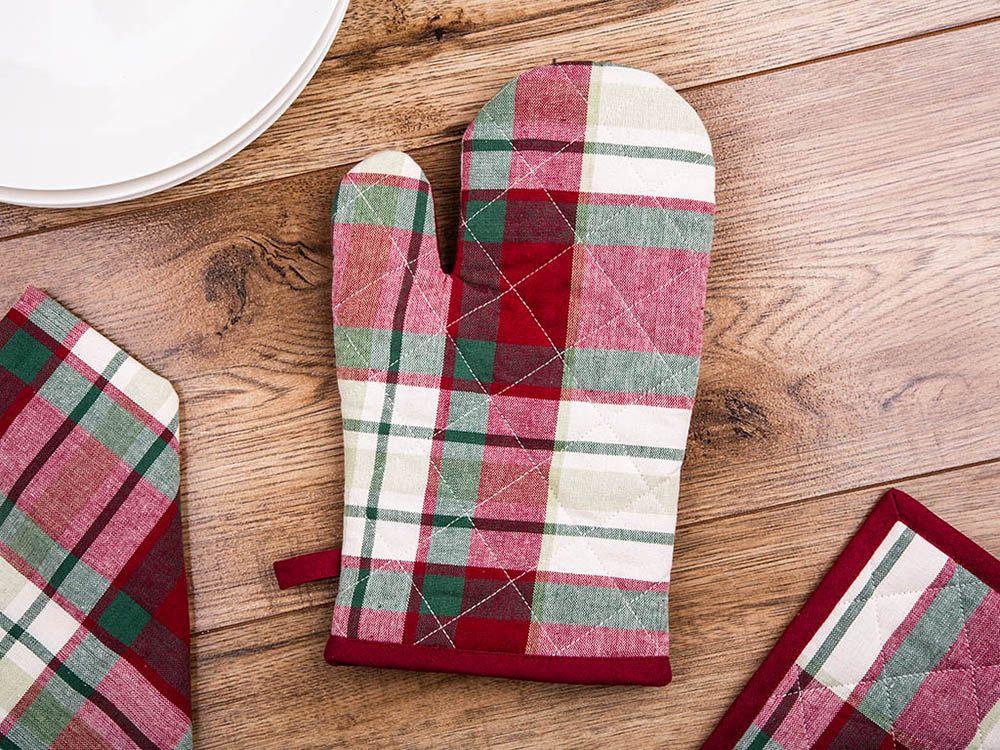 Rękawica kuchenna 100% bawełna Altom Design Victoria Red 18 X 28 cm