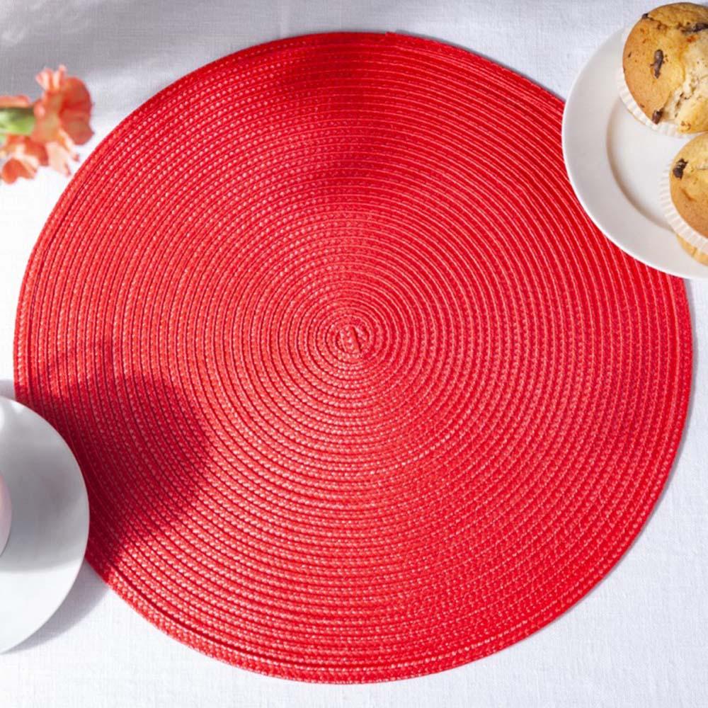Podkładka / Mata na stół słomkowa Altom Design Czerwona 38 cm