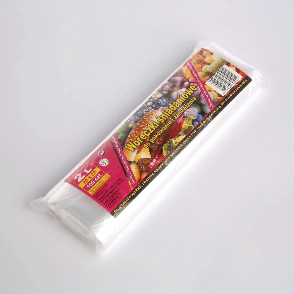 Woreczki śniadaniowe Fartpak 20x30 cm / 2 l (100 sztuk)