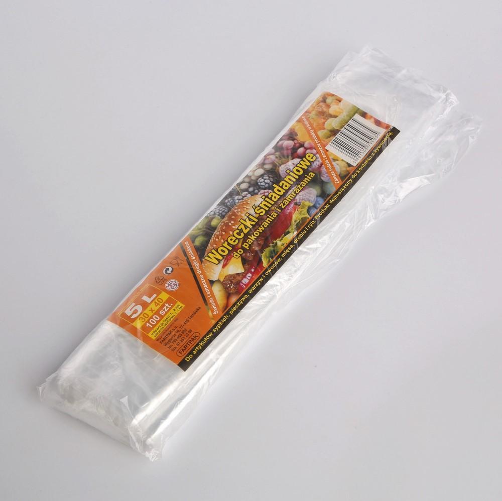 Woreczki śniadaniowe Fartpak 30x40 cm / 5 l (100 sztuk)