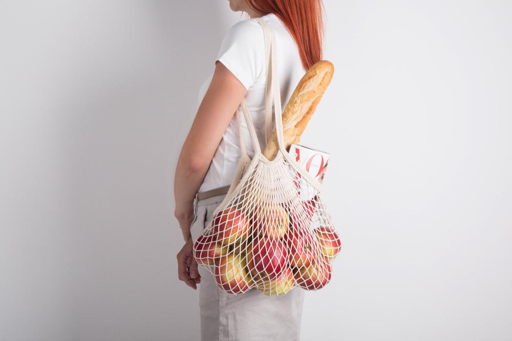 Organic torba bawełniana siatka z długą rączką 40x40 cm/Bądź Eko