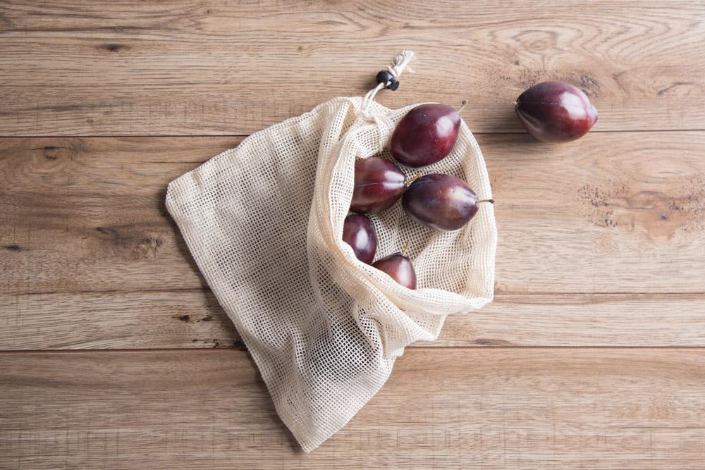 Organic worek bawełniany do warzyw i owoców 30x33 cm