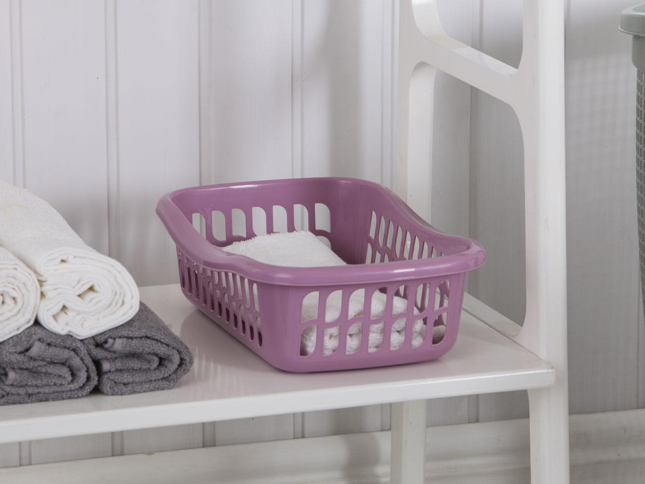 Kosz / Koszyk plastikowy łazienkowy Tontarelli Brio 36x26x11,5 cm