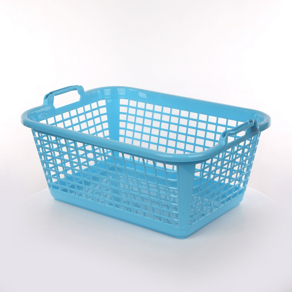 Kosz / koszyk prostokątny niebieski 35 l