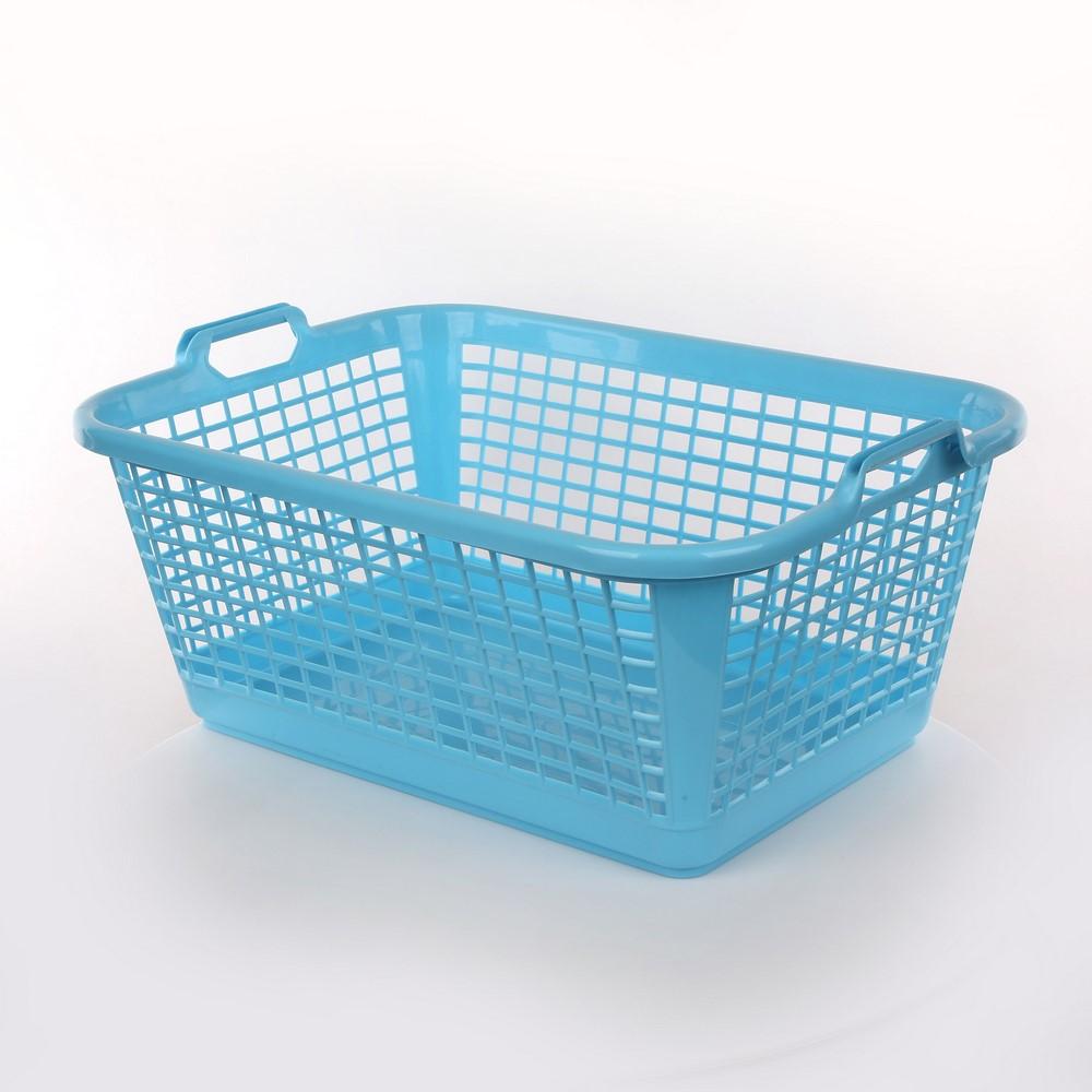 Kosz / koszyk prostokątny niebieski 60 l