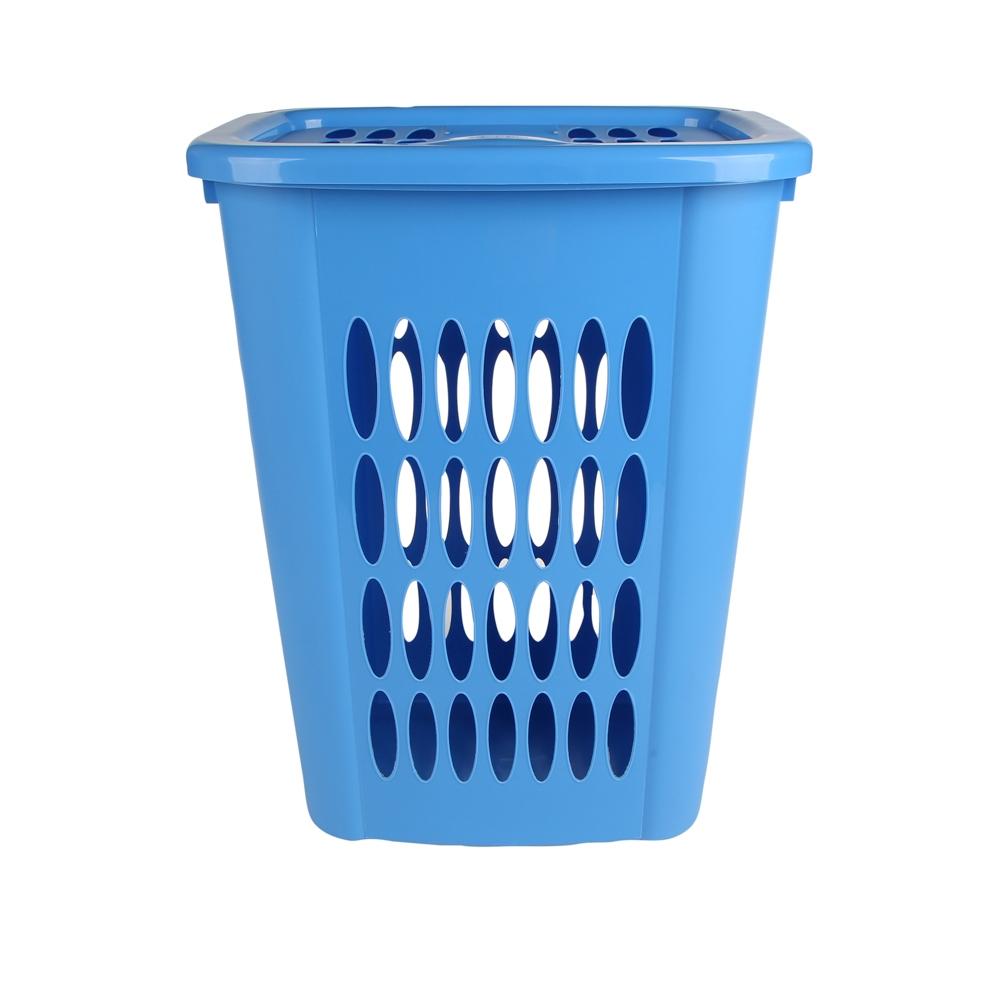 Kosz na pranie z tworzywa sztucznego Tontarelli Cover Line 55 l niebieski