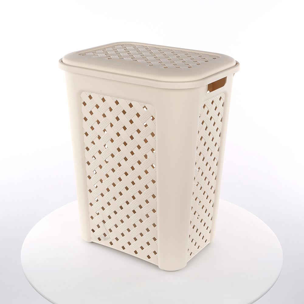 Kosz / pojemnik na pranie Tontarelli Arianna 50,7 l kremowy
