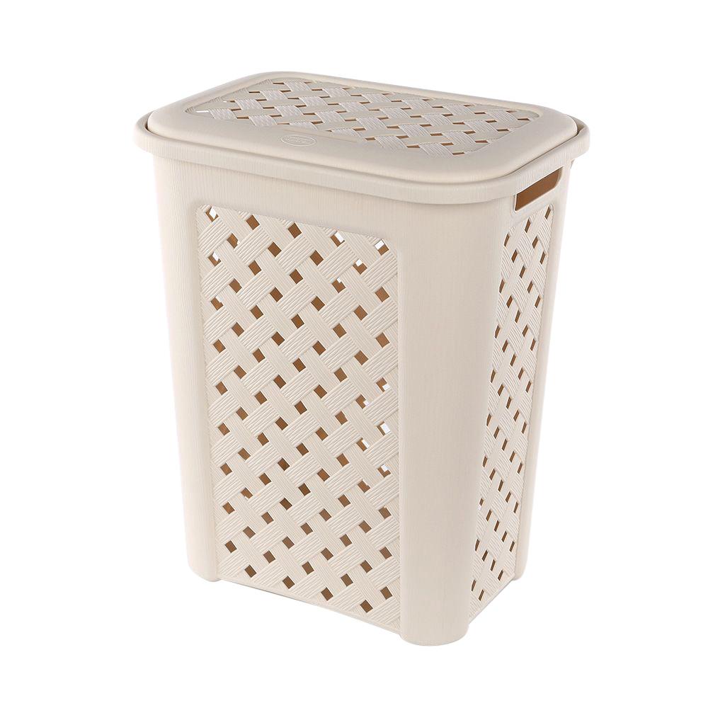 Kosz / pojemnik na pranie Arianna 30 l kremowy