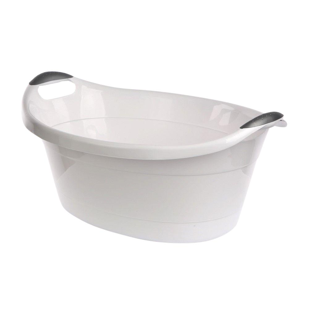 Miska plastikowa z uchwytami Artgos Biała 25 l