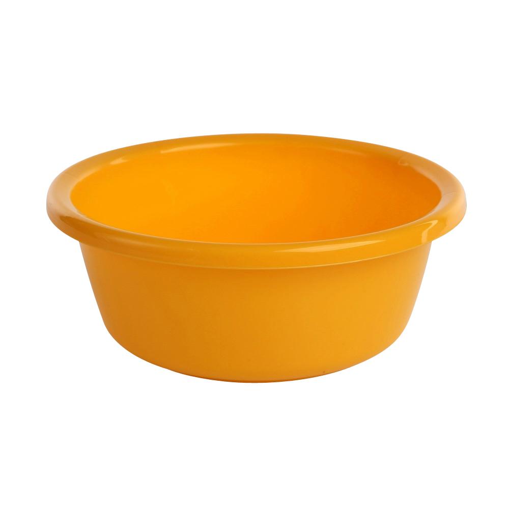 Miska łazienkowa plastikowa okrągła Tontarelli 1,4 l / 20 cm żółty
