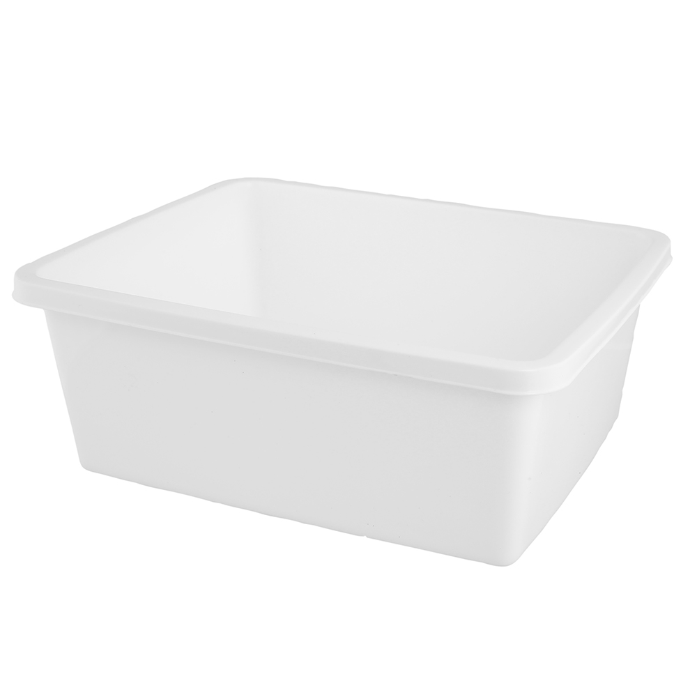 Miska plastikowa prostokątna Bentom 11 l biała