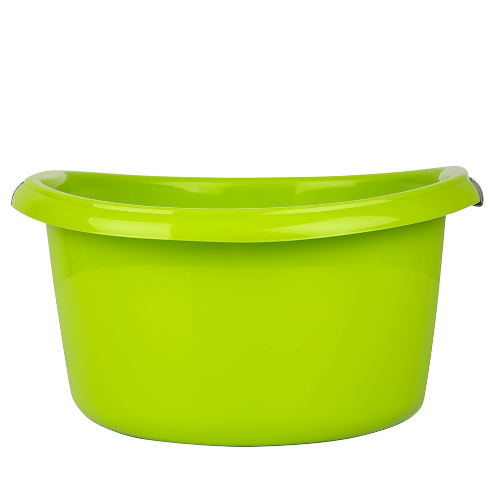 Miska łazienkowa plastikowa okrągła solidna Bentom 10 l seledyn