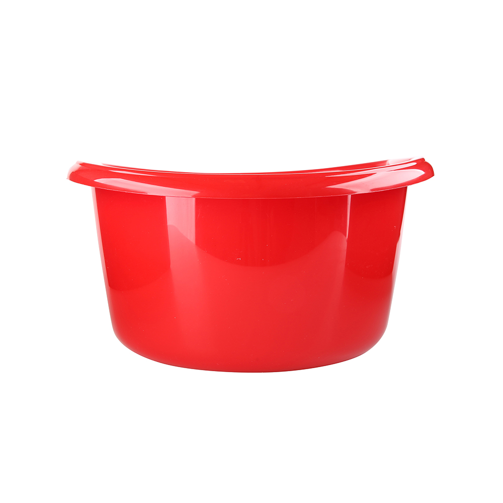 Miska łazienkowa plastikowa okrągła solidna Bentom 15 l czerwony