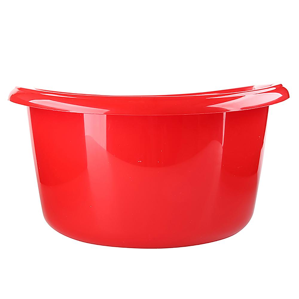 Miska na pranie / łazienkowa plastikowa okrągła solidna Bentom Czerwona 20 l / 42,5 cm