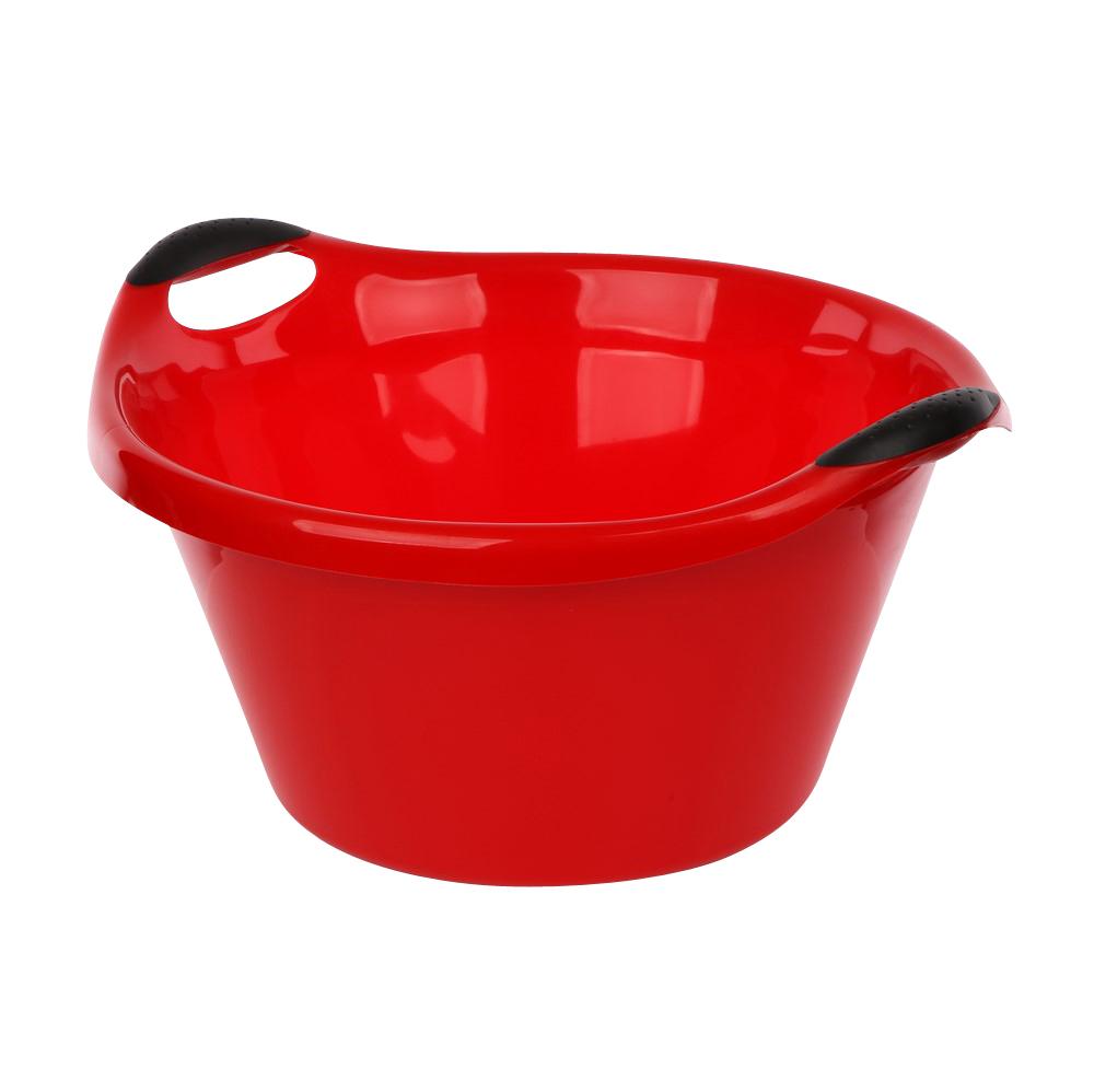 Miska plastikowa czerwona 15l