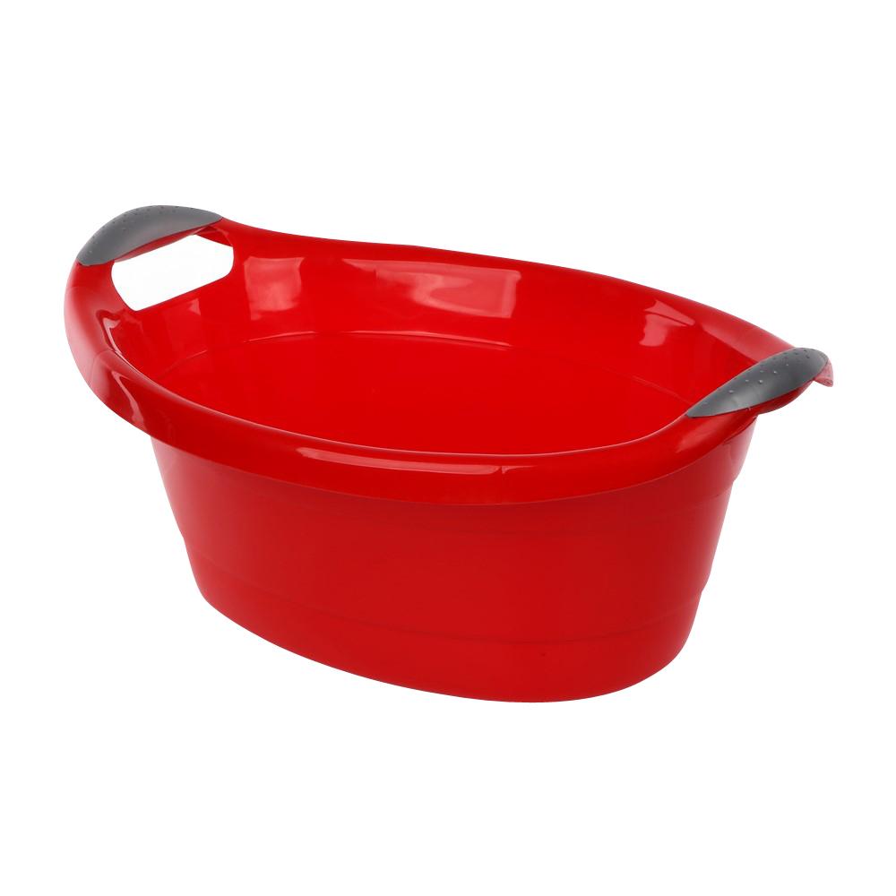 Miska / wanienka plastikowa owalna czerwona 14l