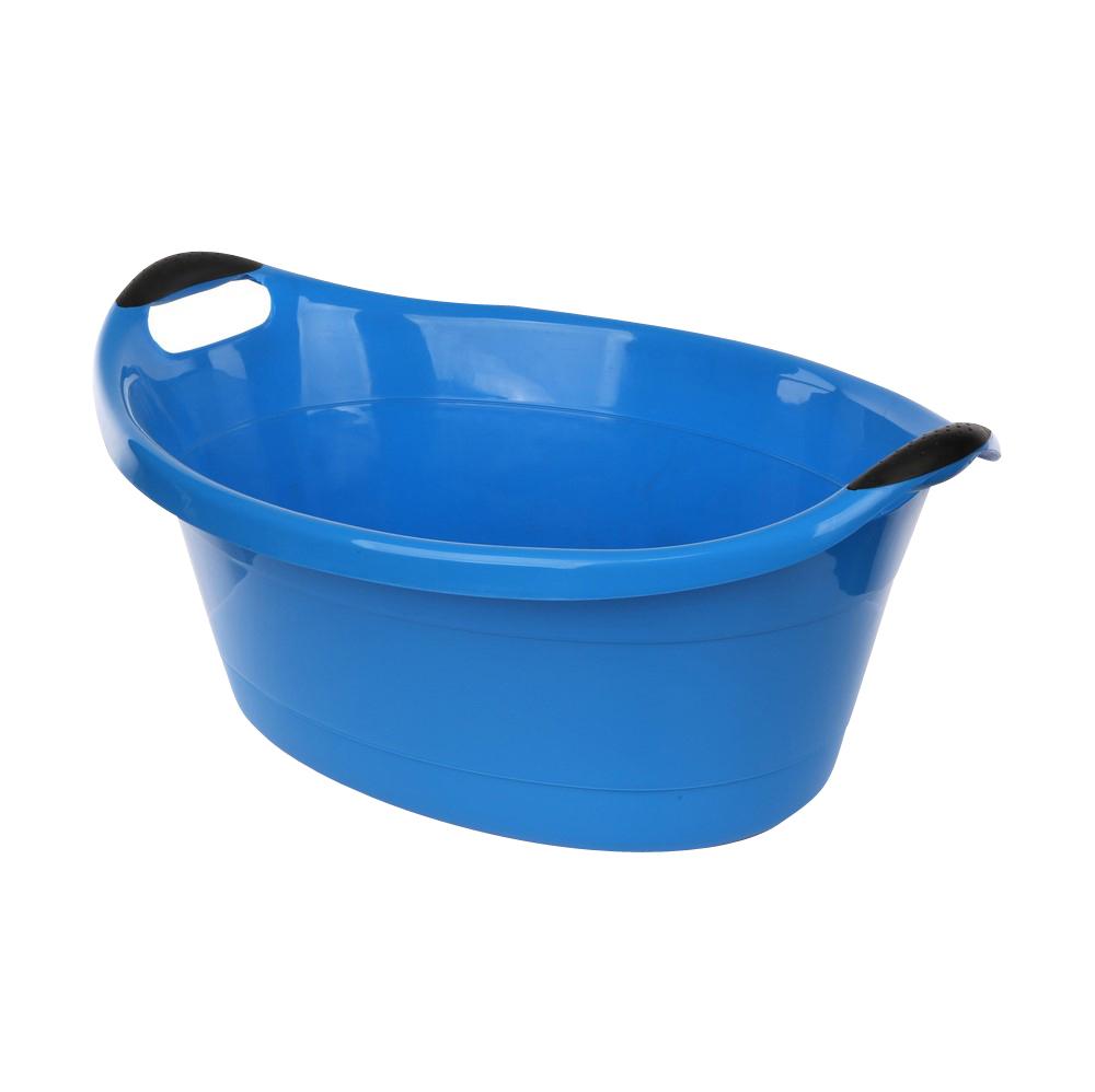 Miska / wanienka plastikowa owalna niebieska 14l