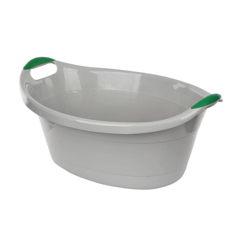 Miska / wanienka plastikowa owalna szara 25l
