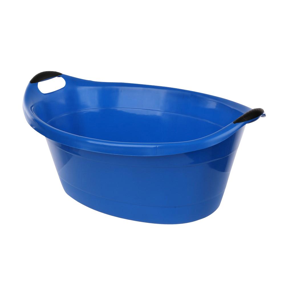 Miska / wanienka plastikowa owalna niebieska 40l