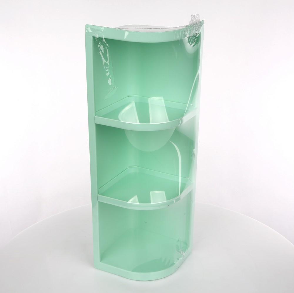 Półka łazienkowa narożna / narożnikowa zielona