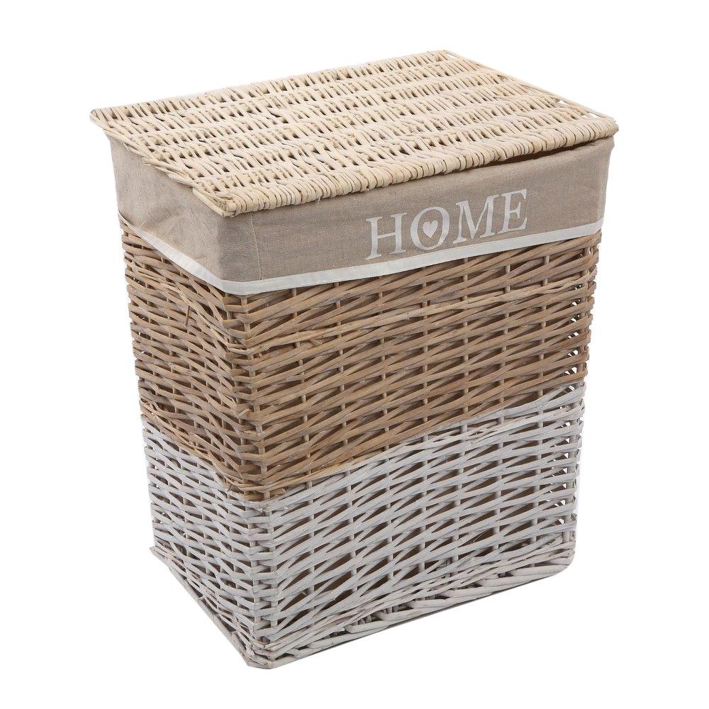Kosz na bieliznę / do przechowywania wiklinowy z pokrywą Altom Design Home 47x35x55 cm