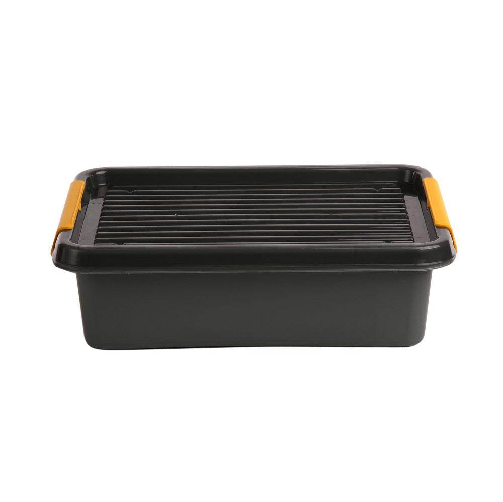 Pojemnik do przechowywania rzeczy / zabawek z pokrywką Orplast Solid Store Szary 8,5 l / 39x29x11 cm