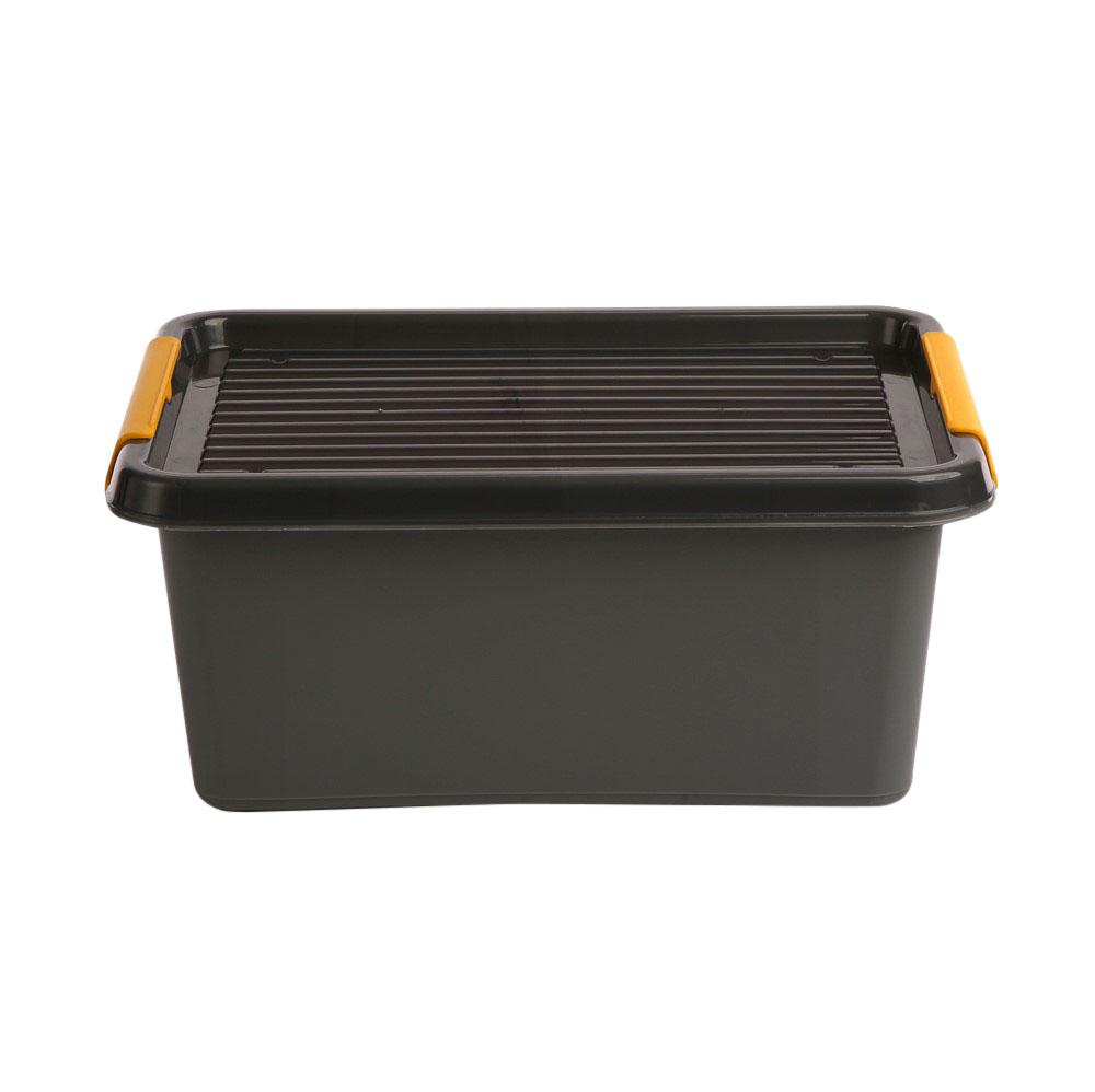 Pojemnik do przechowywania rzeczy / zabawek z pokrywką Orplast Solid Store Szary 12,5 l / 39x29x16,5 cm