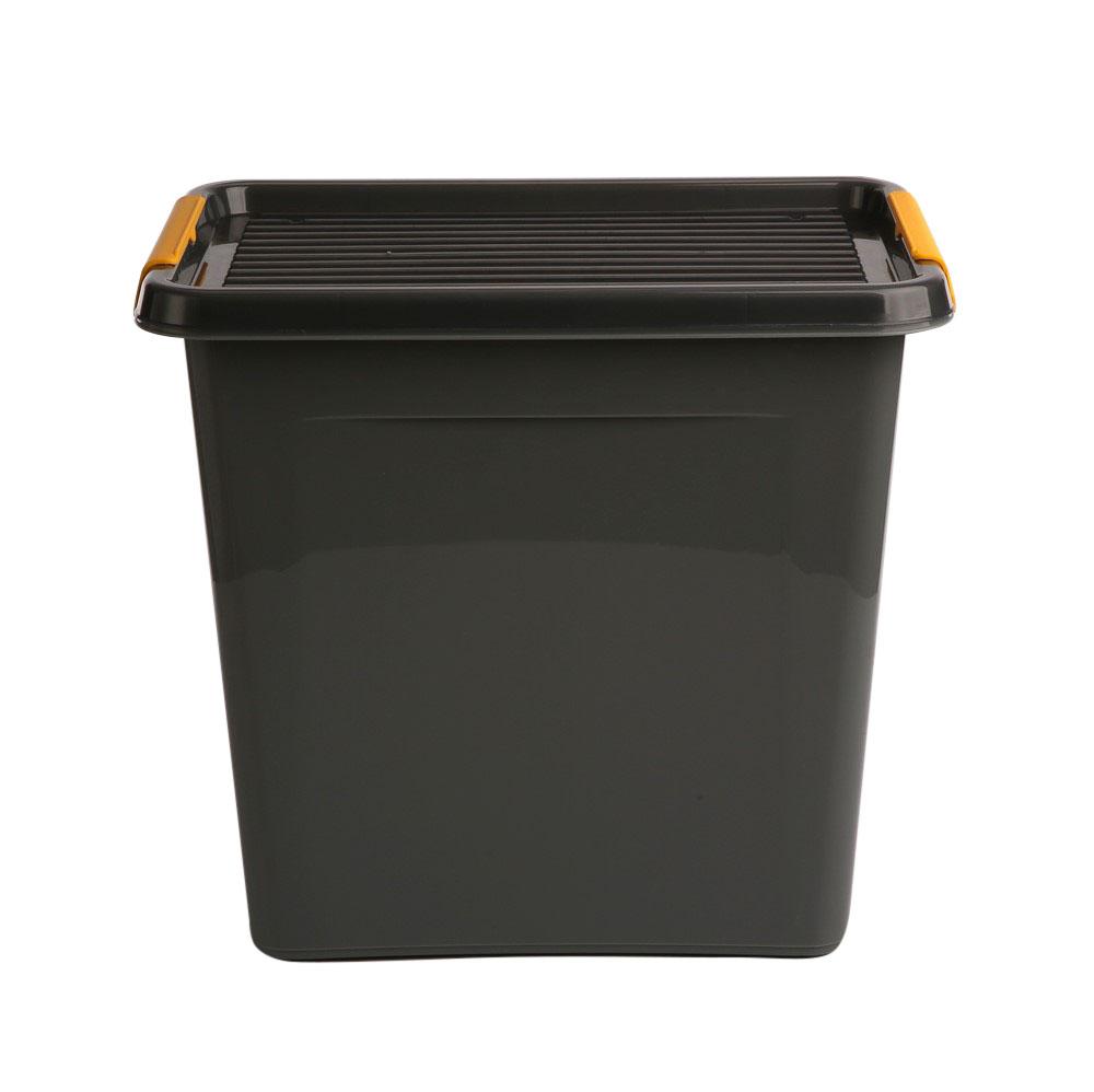 Pojemnik do przechowywania rzeczy / zabawek z pokrywką Orplast Solid Store Szary 30 l / 39x29x35 cm