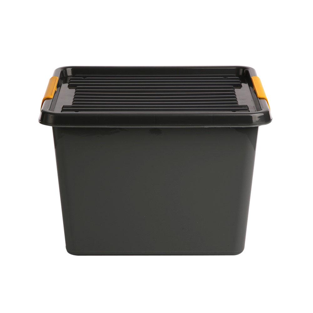 Pojemnik do przechowywania rzeczy / zabawek z pokrywką Orplast Solid Store Szary 32 l / 39x26 cm