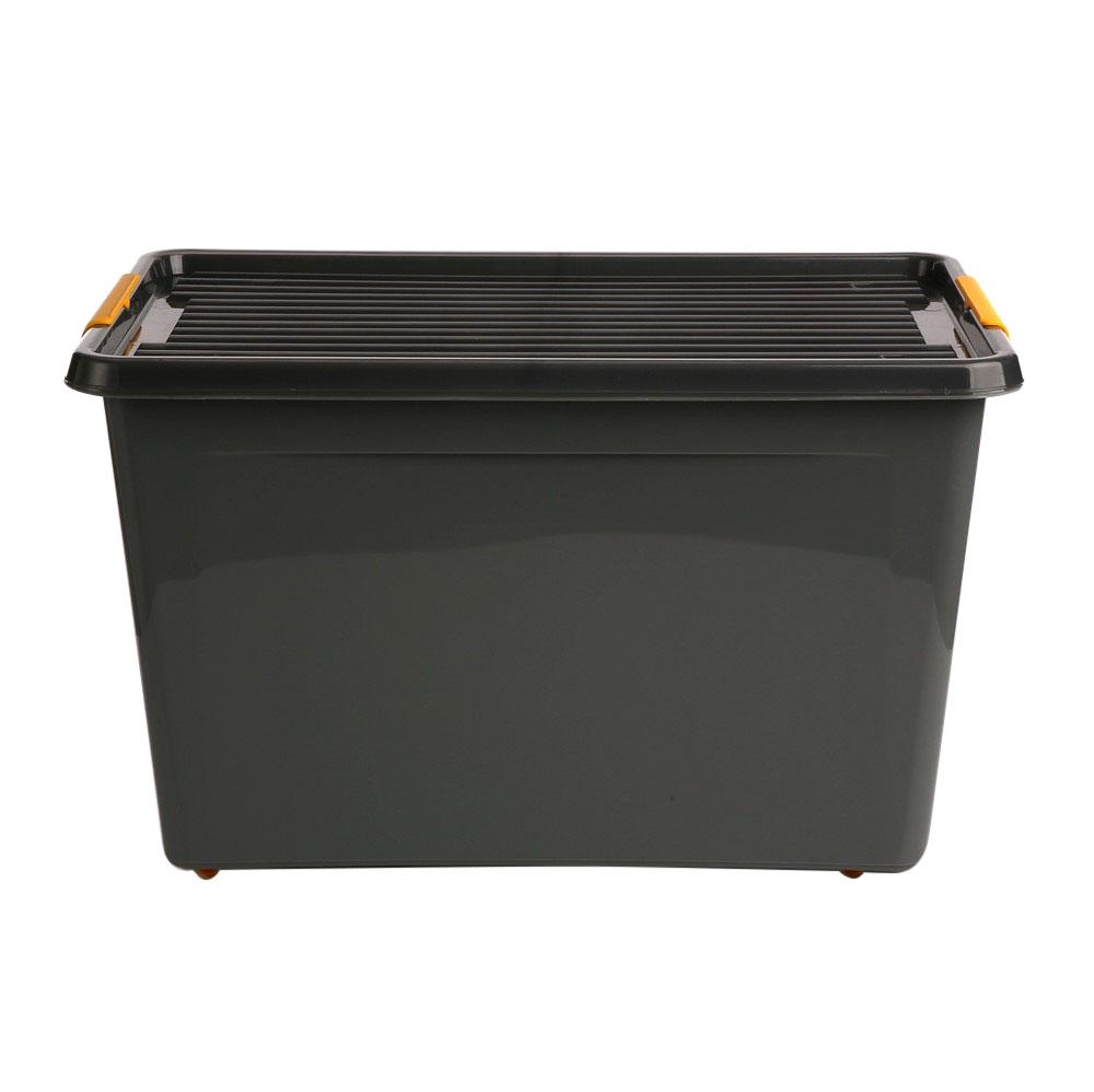 Pojemnik do przechowywania rzeczy / zabawek z pokrywką Orplast Solid Store Szary 60 l / 58x39x35 cm