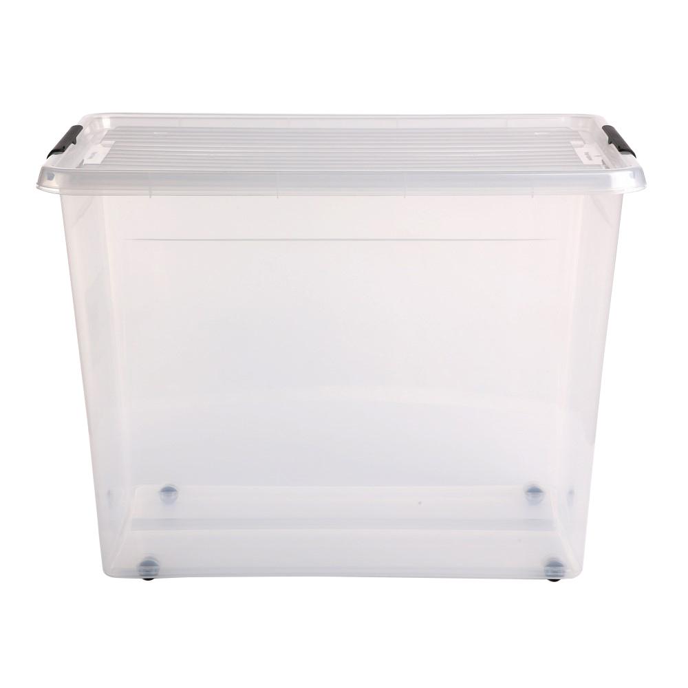 Pojemnik do przechowywania rzeczy / zabawek z pokrywką Orplast Simple Store 80 l / 58x39x42 cm